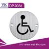 Stainless Steel Door Sign Plate for Handicapped (DP-003D)