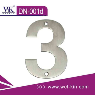 Satinless Steel Door Number (DN-001d)