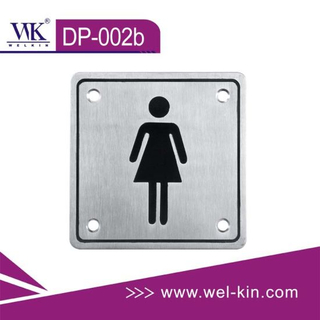 Stainless Steel Sign Plate for Toilet (DP-002b)