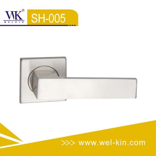 Stainless Steel Square Solid Casting Door Handle