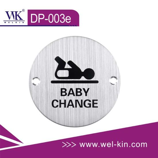 Stainless Steel Stamping Sign Plate for Baby Change (DP-003e)